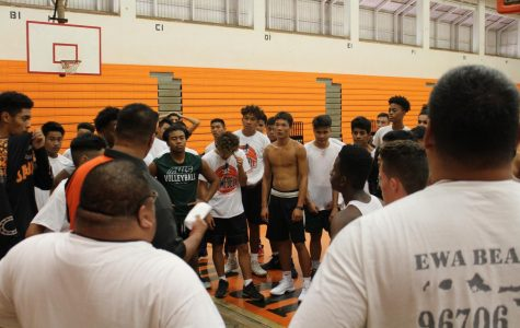 The boys basketball team tryouts. Photo by Mackenzie Palacino.
